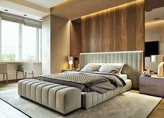 Modern Bedroom With Tips To Help You Design & Accessorize Yours - Bedroom Design Luxury Bedroom Design, Bedroom Bed Design, Home Decor Bedroom, Interior Design, Bedroom Ideas, Modern Interior, Modern Luxury Bedroom, Bedding Decor, Bedroom Furniture Design