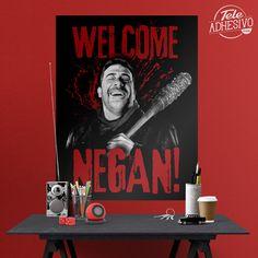 Vinilos Decorativos: Póster adhesivo Welcome Negan TWD #poster #serie #twd #negan #tv #lámina #vinilo #TeleAdhesivo Zombies, The Walking Dead, Tv, Movie Posters, Fictional Characters, Adhesive, Vinyls, Stickers, Fabrics