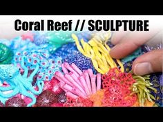 Miniature Coral Reef with Polymer Clay // Speed Sculpting