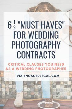 Must-Have Wedding Photography Contract Terms Wedding Photography Contract, Wedding Photography And Videography, Photography Business, Photographer Needed, Event Photographer, Wedding Photographer Checklist, Wedding Consultant, Wedding Planners, Just For You
