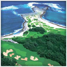 Every day is a perfect day to tee off in the South Pacific.
