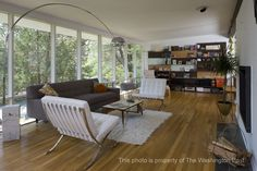Another view of the living room and its Mid-Century Modern charms.