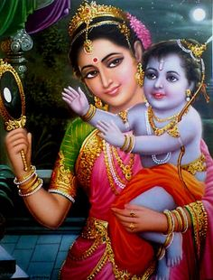Krishna wants the moon! He plays just like an ordinary child. <3