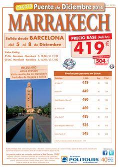 MARRAKECH - Pte de Diciembre salida 5/12 dsd Barcelona ( 4d/3n) precio final 504€ ultimo minuto - http://zocotours.com/marrakech-pte-de-diciembre-salida-512-dsd-barcelona-4d3n-precio-final-504e-ultimo-minuto/
