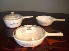 Three 3 Corning Ware Blue Cornflower Skillets1 by KnightandNole, $18.00