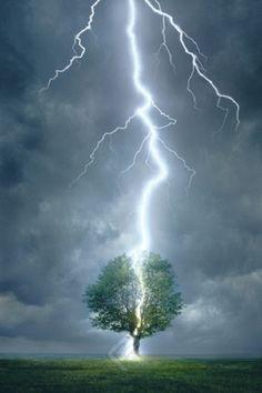 Impressive Lightning Strike - Nature in Action Poster, 24x36