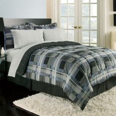 Royale Linens Jameson Comforter Set Size: