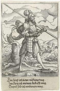 Krijgsman, Virgilius Solis (I), Anonymous, 1524 - 1562