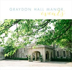 Graydon Hall Manor, an elegant boutique reception facility in the heart of Toronto, is an ideal setting for corporate functions, weddings, anniversaries, and bar mitzvahs. It offers grace, luxury, and intimacy while our professional event planners ensure your event exceeds your expectations.