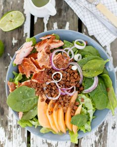 Reseptit - Savukala- härkäpapusalaatti