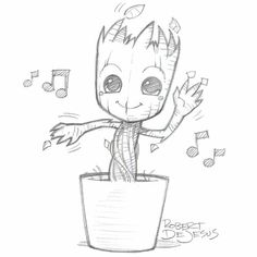 Groot from Banzchan on deviantART - this person makes really great time ., Dancing Groot from Banzchan on deviantART - this person makes really great time ., Dancing Groot from Banzchan on deviantART - this person makes really great time . Easy Drawings, Awesome Drawings, Easy Disney Drawings, Hipster Drawings, Wolf Drawings, Drawings For Dad, Drawings Of Disney Characters, Disney Cartoon Drawings, Disney Pencil Drawings