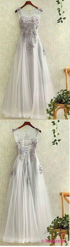Elegant Prom Dress,Long Prom Dress, Appliques Prom Dresses,Elegant Tulle Homecoming Dress Prom Dresses,Tulle Backless Evening Dress,Prom Dresses PD20188425