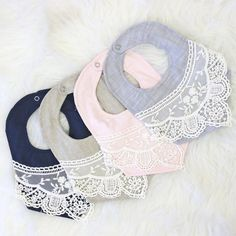 Baby bib with lace. Start your baby on solids while looking cute. Baby shower gift ideas bib with lace. Start your baby on solids while looking cute. Crochet Baby Bibs, Crochet Baby Booties, Baby Blanket Crochet, Boys Sewing Patterns, Baby Bibs Patterns, Baby Boy Bibs, Baby Baby, Baby Toys, Baby Feeding Chart