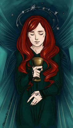 """Jocelyn, determined to fleet with the Cup (and Clary)(""""the Mortal Instruments"""" by Cassandra Clare)"""