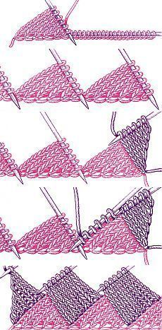 Discover thousands of images about Entrelac knitting looks scary, but trust me, you can handle it! Here are some tips to help your first venture into entrelac be a success. Knitting Stiches, Crochet Stitches, Baby Knitting, Knit Crochet, Crochet Bikini, Diy Friendship Bracelets Designs, Friendship Bracelets With Beads, Friendship Rings, Bracelet Designs
