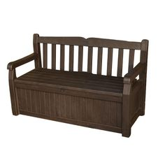 Keter 70 gal. Bench Deck Box in Brown-213126 at The Home Depot