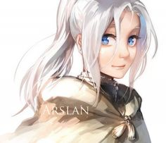 "Arslan from Aslan Senki || No offence to Arslan he is really feminine to me like his facially features seem like a girl and his skin is like Snow White because he is no even sun tanned. If they didn't say ""Prince"" I would have think that Prince Arlsan was a princess.....or maybe I'm to manly..?"