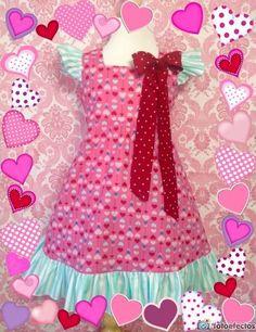 Girl Dress Valentina Size 4; Handmade; All Seasons; 100 % Cotton #Handmade #DressyEverydayHoliday