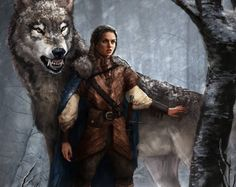 I hope Arya finds Nymeria and then destroys the world. Arya Stark and Nymeria by monsterling - Game of Thrones - A Song of Ice and Fire Game Of Thrones Artwork, Game Of Thrones Fans, Game Of Thrones Wolves, Fantasy Kunst, Fantasy Art, Character Inspiration, Character Art, Dire Wolf, My Sun And Stars