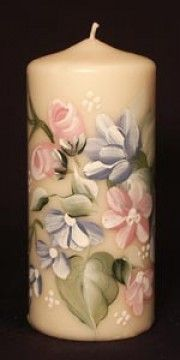 lovely hand painted candle