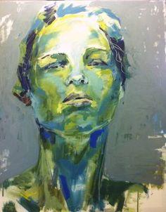 "Saatchi Art Artist Birgitta Bachmann; Painting, ""portrait girl 5"" #art"