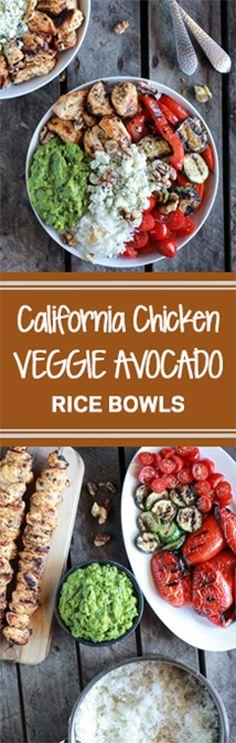 California Chicken, Veggie, Avocado and Rice Bowls | halfbakedharvest.com @hbharvest