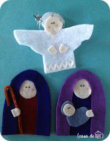 Christmas Coundown -- Felt Nativity.