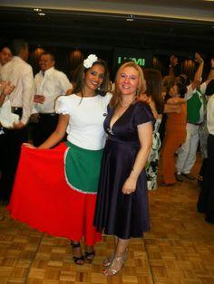 Luciana com a Gabriela