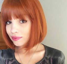 Short Hairstyles for Women: Fringed Bob