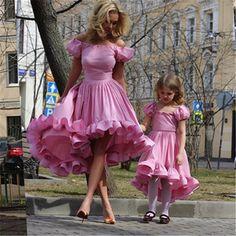 Mutter tochter kleider 2016 neue ankünfte kurze vordere lange zurück abend dress weg von der schulter hoch niedrig prom kleider //Price: $US $162.72 & FREE Shipping //     #clknetwork