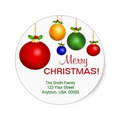 Christmas Holiday Address Labels Stickers | Visit the Zazzle Site for More: http://www.zazzle.com/?rf=238228028496470081