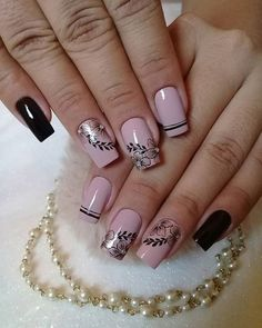 thousand Gusta Me 97 comments Beautiful and Healthy Nails (Packing Nageldesign Cute Nail Art Designs, Acrylic Nail Designs, Gel Nails, Acrylic Nails, Short Nails Art, Nail Art Videos, Nail Art Rhinestones, Manicure E Pedicure, Fire Nails