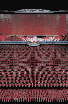 Photo by Andreas Gursky, Pyongyang IV, 2007