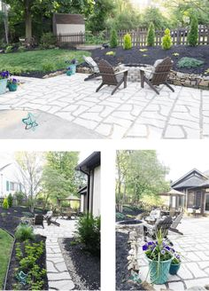 See how we created an additional 350 square feet of outdoor living space to our current patio using flagstone patio pavers. #outdoorliving #diyhomeprojects #diyoutdoorprojects Outdoor Living, Outdoor Decor, Outdoor Rooms, Outdoor Ideas, Cozy Backyard, Backyard Ideas, Flagstone Pavers, Outdoor Seating Areas, Garden Borders