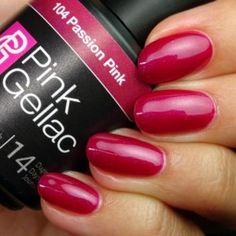 Pink Gellac Gel Nagellack Farbe 104 Passion Pink - Famous Last Words Gel Nail Polish Colors, Nail Polish Hacks, Red Nail Art, Natural Nail Polish, Natural Nails, Pink Polish, Nail Colors, Shellac, Aycrlic Nails
