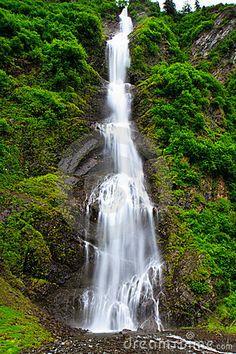 Bridal Veil Falls ~ Keystone Canyon, Alaska