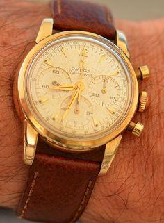 Vintage OMEGA Seamaster Calibre 321 Chronograph In Gold-Cap Circa 1950s - http://omegaforums.net