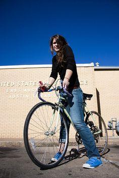 Cool Girl on Bike