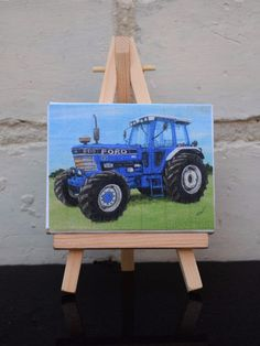 Mini Canvas Print Tractor Themed Ford 8210