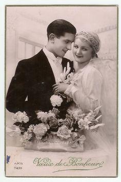 1931 Wedding Photo Card
