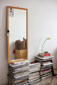 Books on the floor, scelta di stile