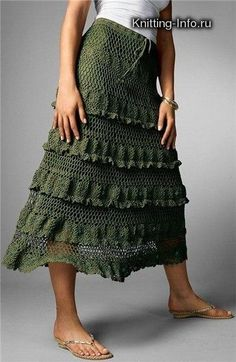 Forest Green Skirt with variations free crochet graph pattern: