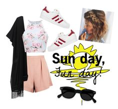 """Sun day, Fun day! Summer Outfit"" by gussied-up ❤ liked on Polyvore featuring Finders Keepers, Victoria's Secret and adidas"