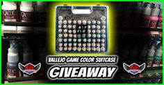 Win a Vallejo 72 Color Paint  3 Brush Suitcase {US CA}... IFTTT reddit giveaways freebies contests