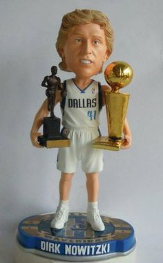 Dirk Nowitzki Dallas Mavericks NBA Champ/2007 MVP Hardwood Hardware (Trophies) Bobble Head Forever Exlcusive #/300 by Forever Collectibles. $34.99