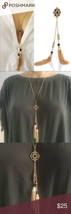 Long Statement Necklace (nwt) Brand new in package, price firm unless bundled. Jewelry Necklaces