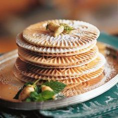 Pizzelle: Thin, crisp cookies called pizzelle can be transformed into irresistible ice cream sandwiches or rolled into small cones.