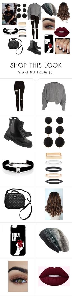 """""""Fall Coffee Date With Daniel Seavey"""" by roxy-crushlings ❤ liked on Polyvore featuring Topshop, Dr. Martens, Cara, Kenneth Jay Lane, Accessorize, Dolce&Gabbana, Michael Stars, DanielSeavey and whydontwe"""