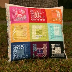 Pillow Talk Swap - finished pillow by Don't Call Me Betsy, via Flickr