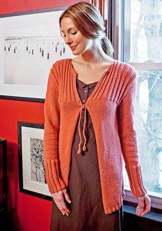 Free Knitting Patterns: Free Knitting Pattern: Easy Cardigan From Berroco Yarns